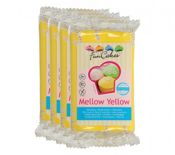 FunCakes Fondant Mellow Yellow 4 x 250g