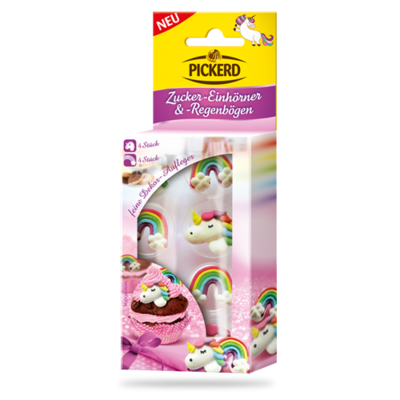 Pickerd Zucker Einhörner & Regenbögen 8 Stück