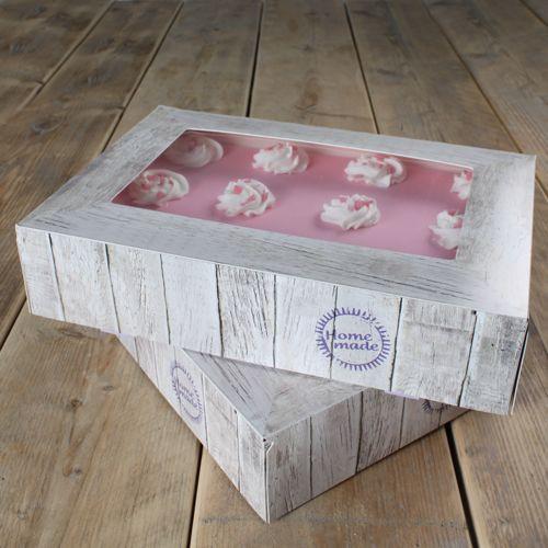 FunCakes Tortenschachtel - Pure- 36x25x8cm 2er Set mit Sichtfenster