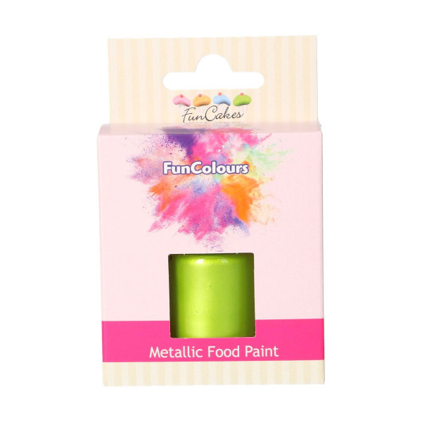 FunCakes FunColours Metallic Food Paint Spring Green 30ml