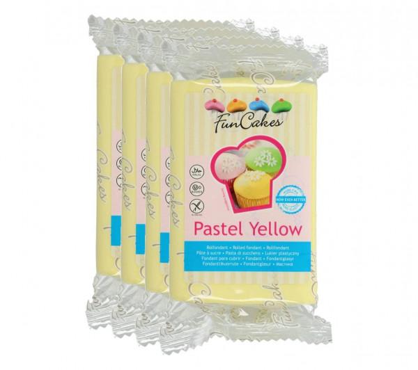 FunCakes Fondant Pastel Yellow 4 x 250g