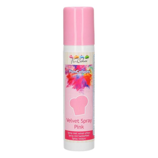 FunCakes FunColours Velvet Spray Pink 100ml