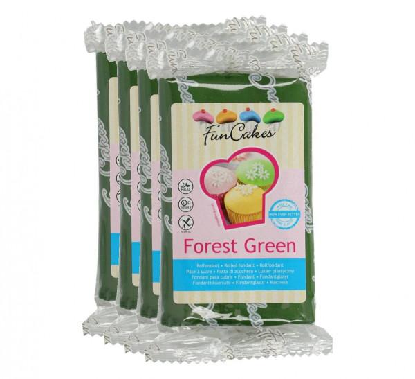 FunCakes Fondant Forest Green 4 x 250g