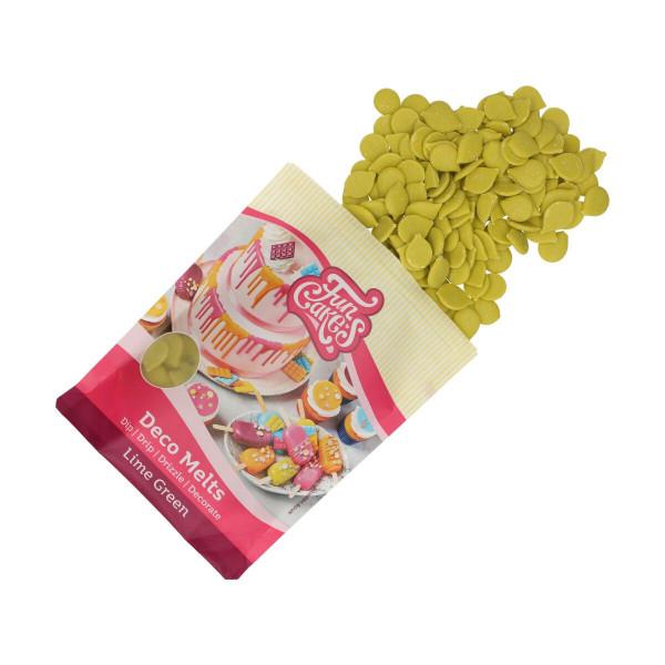 FunCakes Deco Melts Limegreen / Limettengrün 250 g