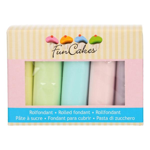 FunCakes Fondant Multipack Pastel Colours 5 x 100g