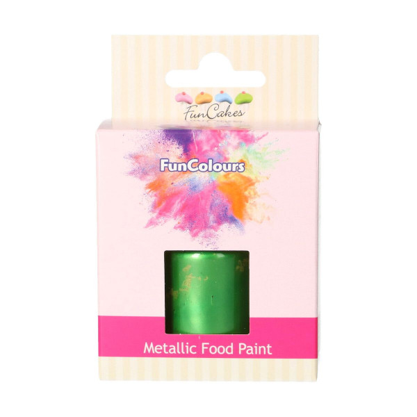 FunCakes FunColours Metallic Food Paint Bright Green 30ml