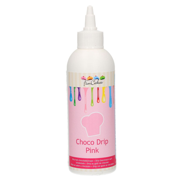 FunCakes Choco Drip Rosa 180g