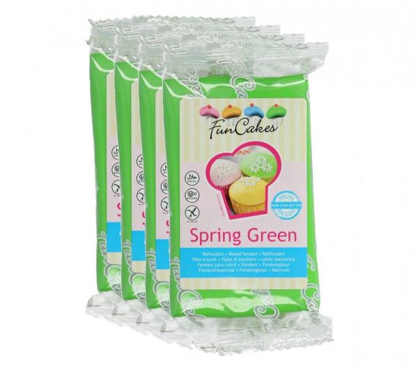 FunCakes Fondant Spring Green 4 x 250g