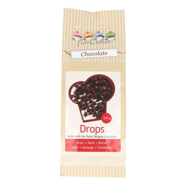 FunCakes Kuvertüre Schokoladen Tropfen Dunkel 350g