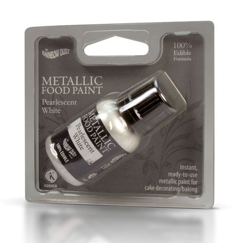 Rainbow Dust Metallic-Lebensmittelfarbe Pearlescent White 25ml