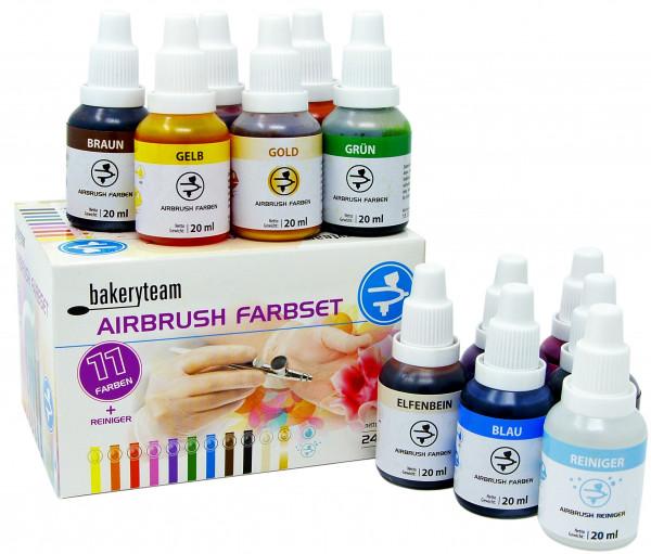 bakeryteam Lebensmittelfarben Airbrush 12 x 20ml