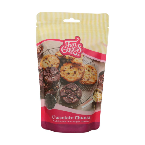 FunCakes Kuvertüre Chocolate Chunks Dunkel 350g