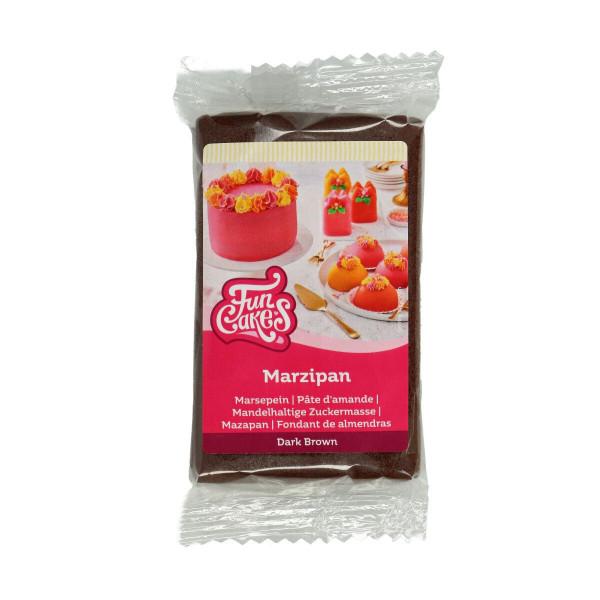 FunCakes Mandelhaltige Zuckermasse Dark Brown 250 g