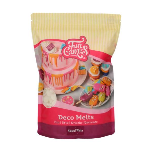 FunCakes Deco Melts natural White / natürliches Weiß 1 kg