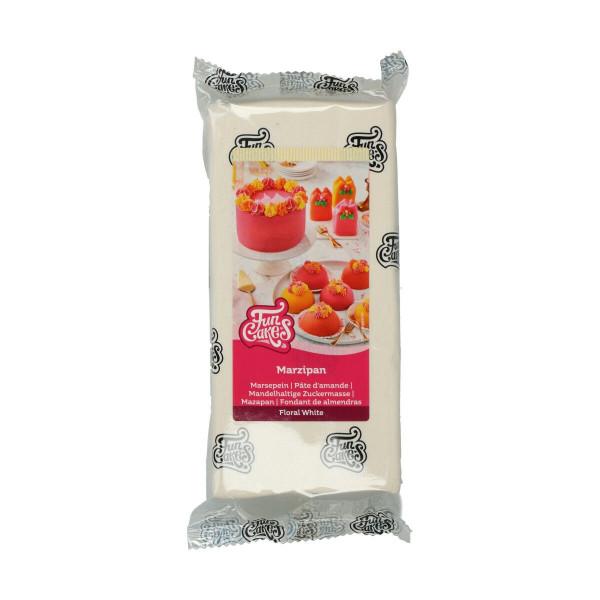 FunCakes Mandelhaltige Zuckermasse Floral White 1kg