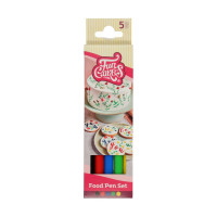 FunCakes FunColours Brush Food Pen Primary 5er Set