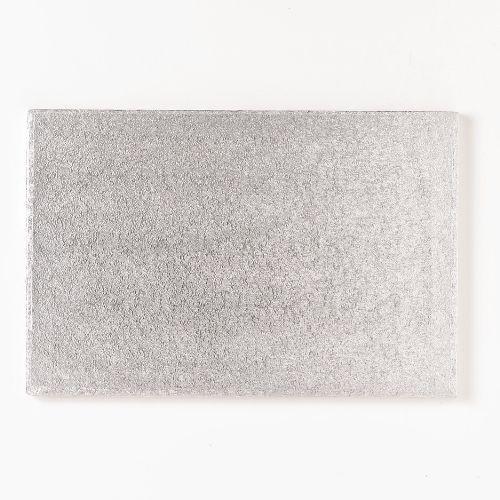 FunCakes Cake Board silber länglich 40,5 x 30,5 cm