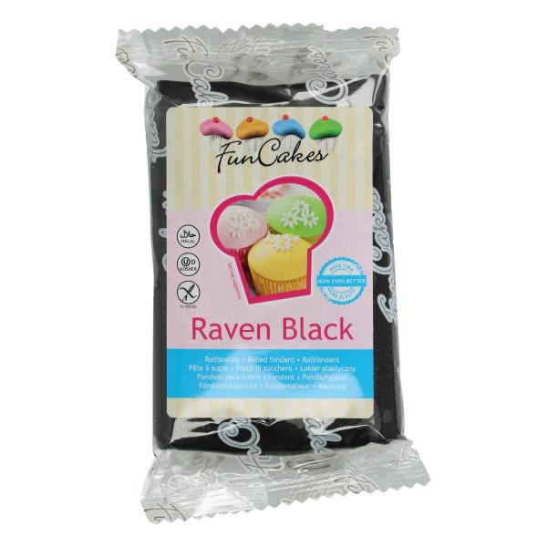 FunCakes Fondant Raven Black 250g