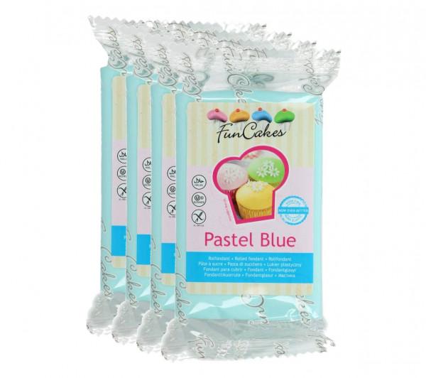 FunCakes Fondant Pastel Blue 4 x 250g