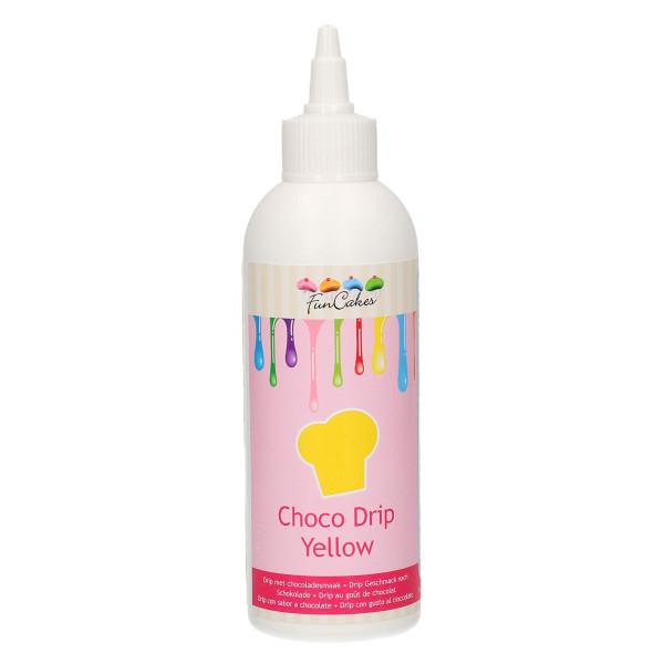 FunCakes Choco Drip Gelb 180g