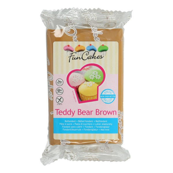 FunCakes Fondant Teddy Bear Brown 250g