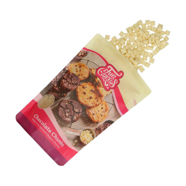 FunCakes Kuvertüre Chocolate Chunks Weiß 350g