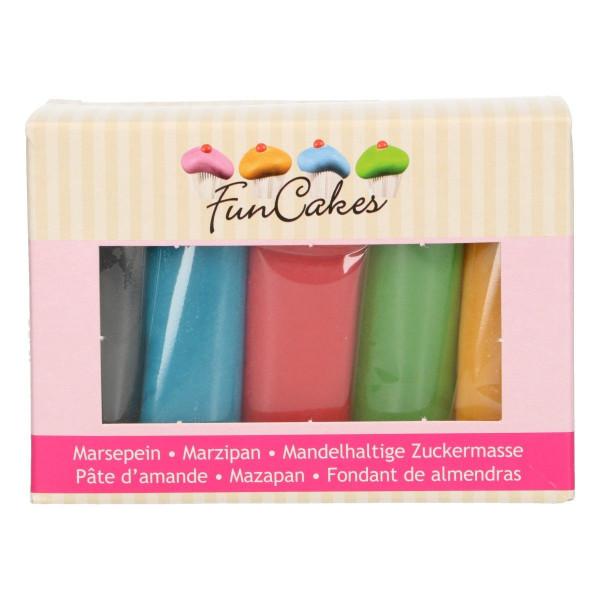 FunCakes Mandelhaltige Zuckermasse Multipack 5 x 100g