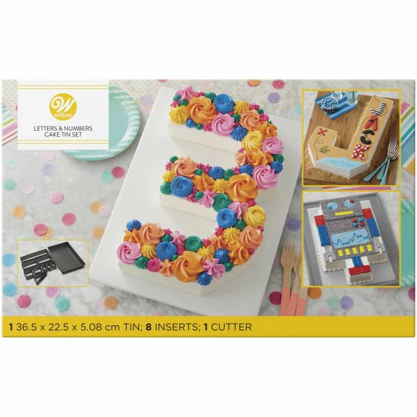 Wilton Backform Celebrations Numbers & Letters