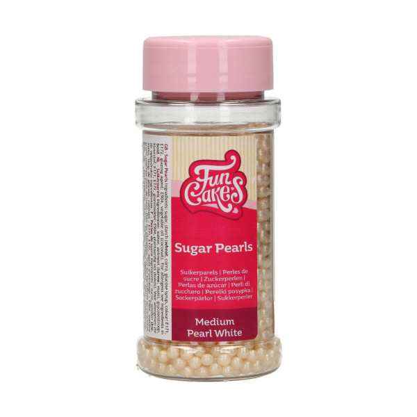 FunCakes Sugarpearls Pearlescent White 80g