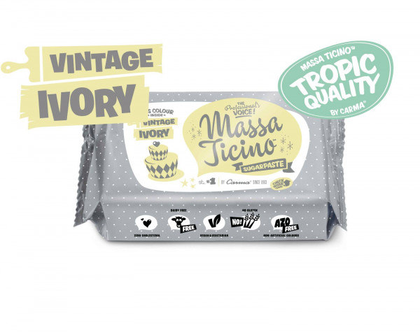 Massa Ticino Fondant Tropic Ivory 250g