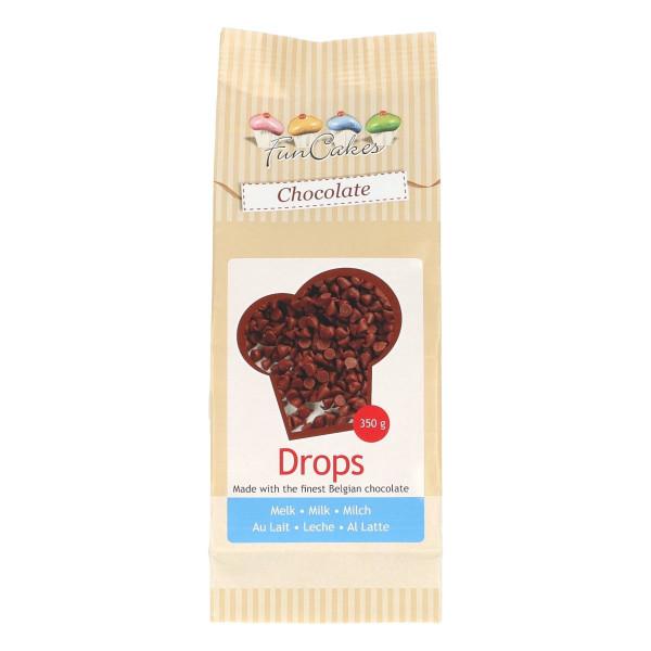 FunCakes Kuvertüre Schokoladen Tropfen Milch 350g